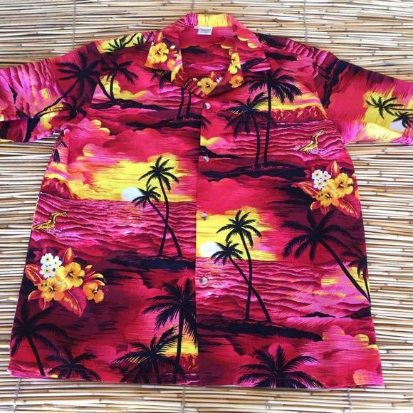 efdf8f17 Palmwave Hawaiian Shirt Diamond Head Sunset Aloha.  M_5c8973ed03087cb92cf34210